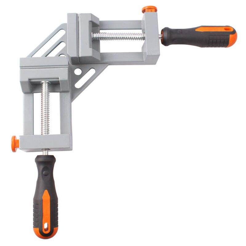 Double poignée 90 degrés angle droit pince En alliage D'aluminium Bois clamp Rapide angle clip