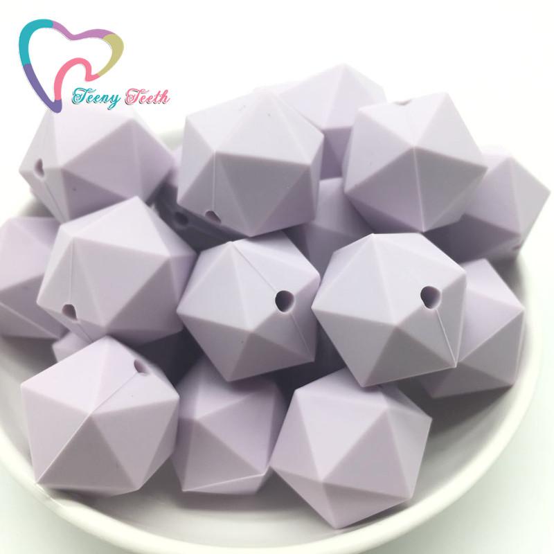 Beads & Jewelry Making Objective Teeny Teeth 10pcs Lilac Purplesilicone Beads Icosahedron Shape Beads For Silicone Baby Teethers Diy Shower Gift Nursing Necklace