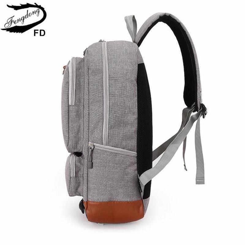 Мужской школьный или дорожный рюкзак FengDong, черный школьный или дорожный рюкзак для мальчиков с местом под ноутбук, осень 2019