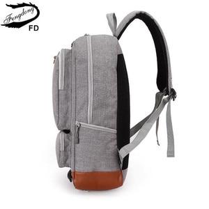 Image 5 - Fengdong school backpacks for boys black laptop computer backpack kids school bag bagpack men travel bags backpacks for children