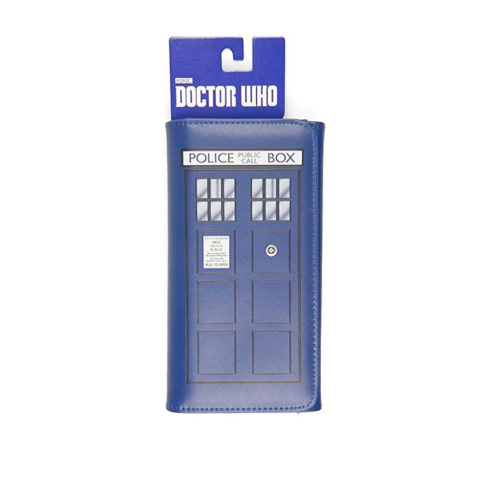 Doctor Who Brieftasche-Tri-falten mit Geprägte Dr. Who TARDIS Design Frauen lange mappen Harry Potter Brieftasche freies Verschiffen