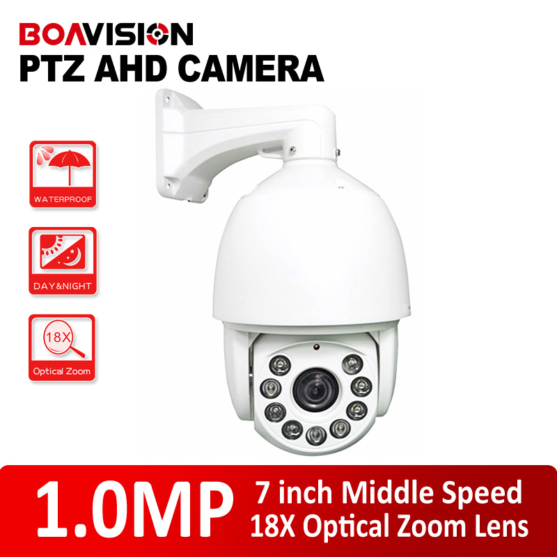 IR 120m 720P HD-AHD Middle Speed Dome AHD Camera 18X Optical Zoom AHD PTZ Camera Infrared,Sensor 1.3 Mega Pixel CMOS free shipping hot selling 720p 20m ir range plastic ir dome hd ahd camera wholesale and retail