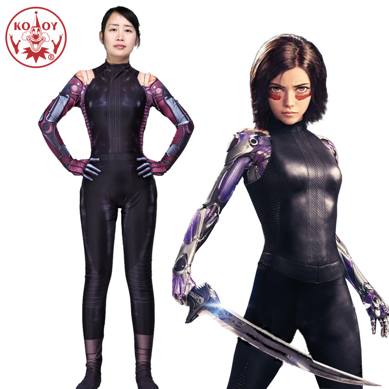 HOT Movie Alita cosplay Battle Angel Alita cosplay costume Adult Rosa Salazar Halloween costume women party jumpsuits Bodysuit