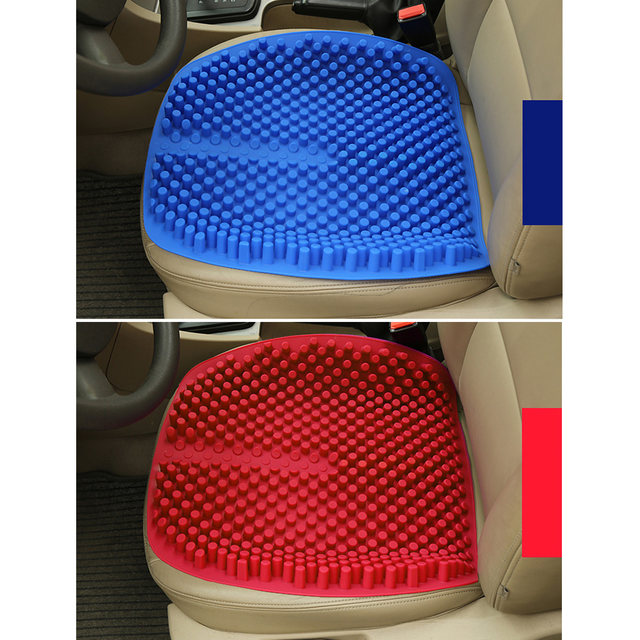 Silica Gel Car Seat Cushion Non Slip Chair Pad For Office Truck Home Elastic Breathable Silicone Massage Cover 165 Inch