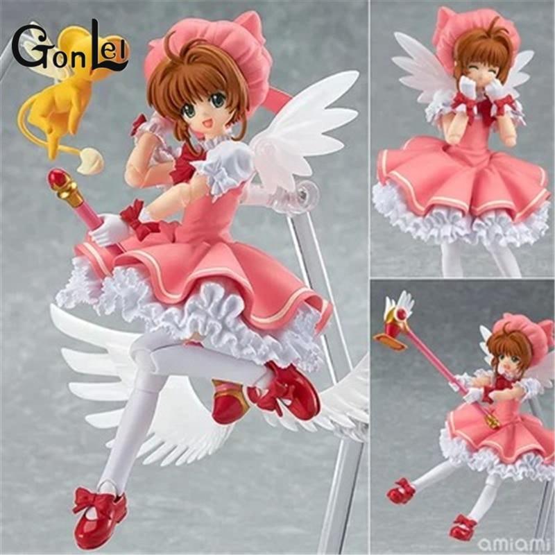 GonLeI Figma Cardcaptor Sakura Kinomoto Sakura Doll 244 PVC Action Figure Japanese Anime Figures Model Toy 15cm K300
