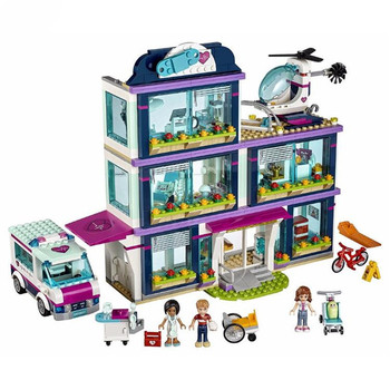 Friends City Heartlake Hospital Ambulance Block Set Princess Undersea Palace Compatible with Legoingly Friends 41318 Girls Toys 1