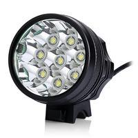 Skywolfeye 8 T6 LED Flashlight Black Bike Light Headlights Waterproof Mini Torch Flashlights Bicycle Lamp For Night Riding