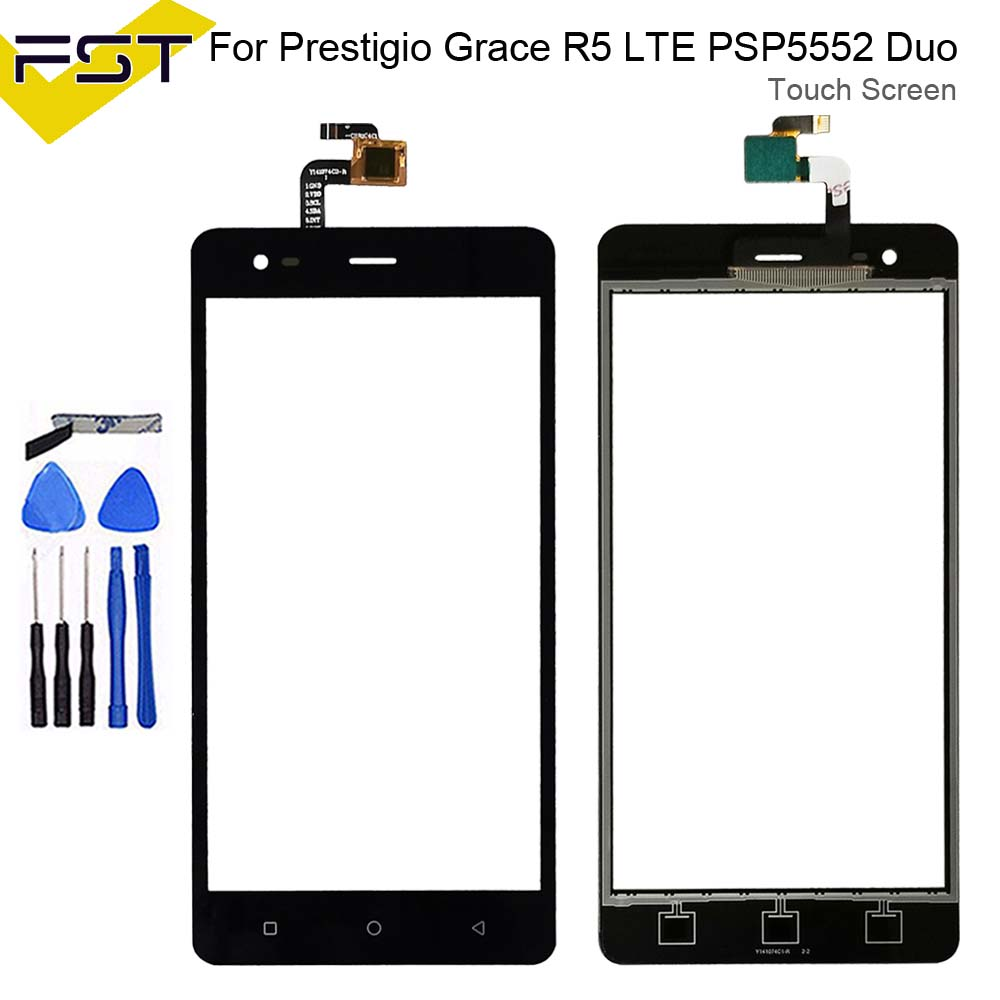5.5'' For Prestigio Grace R5 LTE <font><b>PSP5552DUO</b></font> PSP5552 Touch Panel Touch Screen Digitizer Sensor Replacement Glass Lens+Tools image