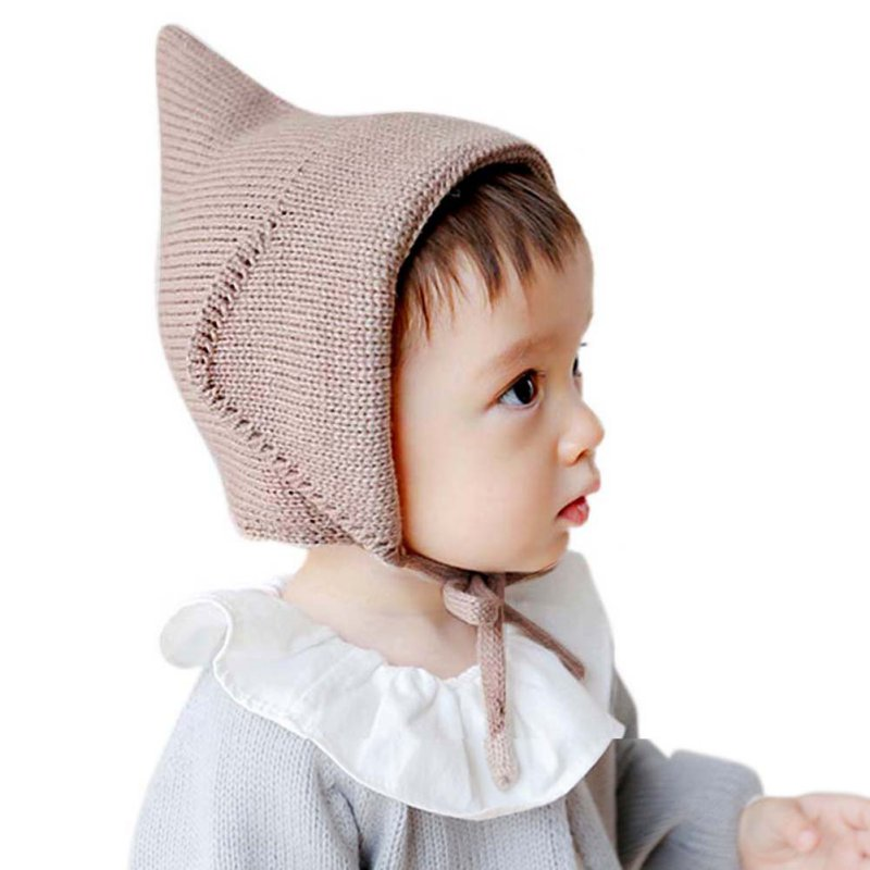 Steeple Witches Knitted Hat Lace-Up Solid Color Baby Bonnet Newborn Fotografia Props xintown men s outdoor cycling jersey sets bib shorts sport short sleeve cycling jersey mountain bike clothing wear suit