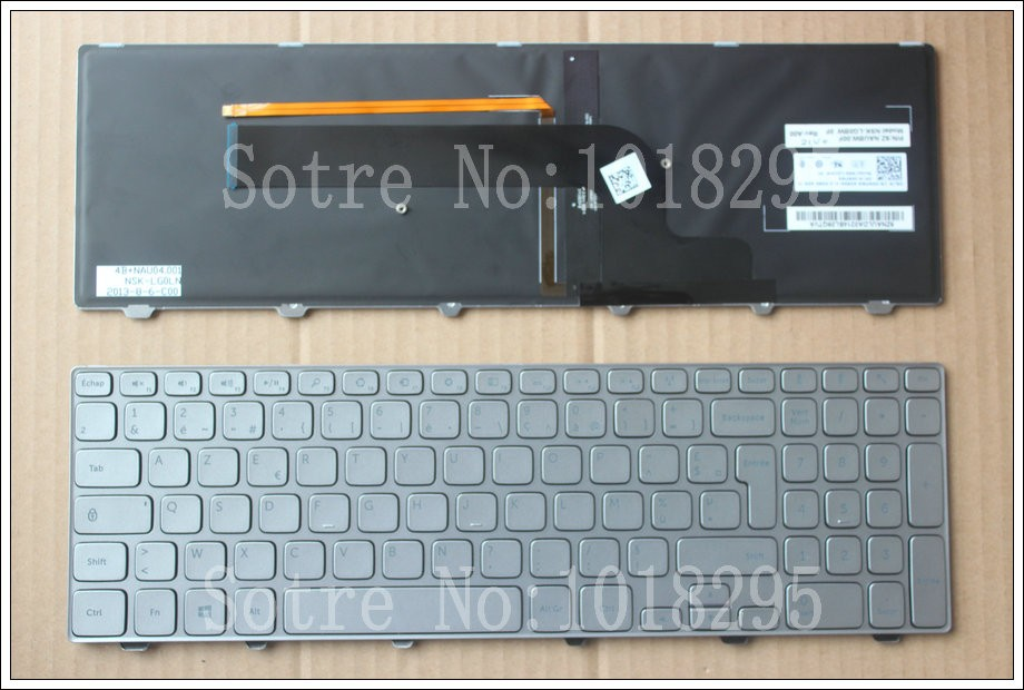 New for Dell Inspiron 15-7000 7537 series FR/French Laptop Keyboard backlit 09RFW6 SN8221BL backlit us new laptop keyboard for dell inspiron 15 7537 7000 p36f 7537 sliver