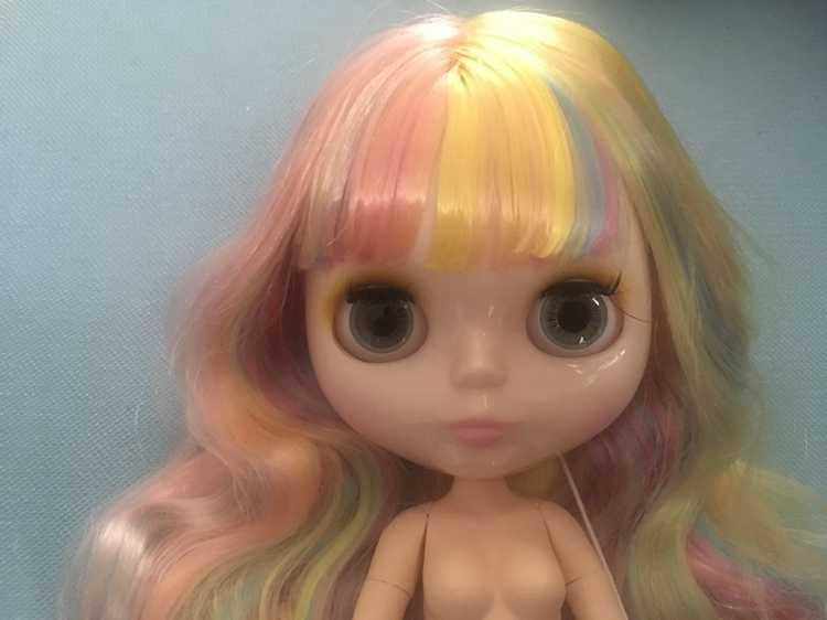 Cabelo colorido de alta qualidade Nua blyth boneca corpo joint moda BJD 30 cm 1/6 melhores brinquedos dos miúdos para meninas