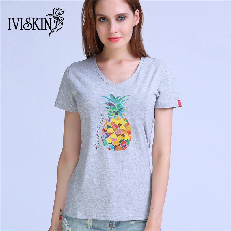 Summer Women T shirt Fruit Print Pineapple T-shirt O-neck Casual Short Sleeve Tee Tops Female Tshirt Woman Clothes