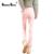 2016 nuevos pantalones vaqueros calientes de invierno rosa de las mujeres más el tamaño de algodón grueso terciopelo de la alta cintura lápiz flaco pantalones de mezclilla de moda