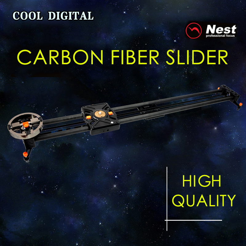 NEST 80cm Carbon Fiber Track Slider DSLR Camera DV Video Stabilizer Rail Track Slider For DSLR  Camcorder PK iFootage Shark S1 ashanks 60cm camera track slider 4 bearings rail slide aluminum alloy photography dv studio stabilizer for dslr video camcorder