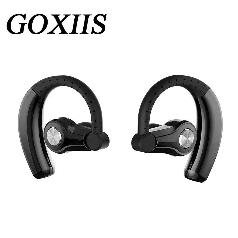 GOXIIS Cordless Headphones Real Wireless Bluetooth Earbuds Binaural Bluetooth Headset Stereo Sport Bluetooth Headset