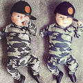 Fashion camouflage kids boys clothes set autumn toddler clothing 2pcs black t shirt+pants boy sports suit leisure clothes