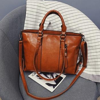 2019 Fashion Large Capacity Women Tote Bag High Quality PU Leather Female Handbags Top-Handle Bags Women Shoulder Bag bolsa grande bolsas femininas de couro