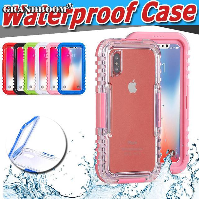 finest selection d7dd9 1dc8c US $9.99 |Swimming Diving Waterproof Clear Full Body Case For iPhone XS Max  XR X 8 7 Plus 6 6S 100% Sealed Underwater Hybrid PC+TPU Cover-in Fitted ...