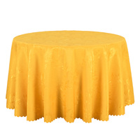 10PCS Red Gold White Jacquard Table Cover Round Decor Dining Table Cloth Rectangular Hotel Outdoor Wedding