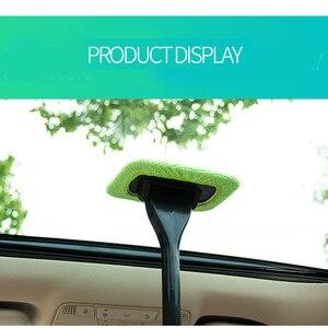 Image 3 - 1 pçs destacável 13 polegada janela escova de microfibra limpador limpeza escova com almofada de pano do carro ferramenta limpeza automática escova