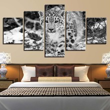 Animal Print Cheetah Dog Bear Lion color Paintings Poster Wall Print color 5 Panel Home Decorations Living Room Abstract 282 все цены