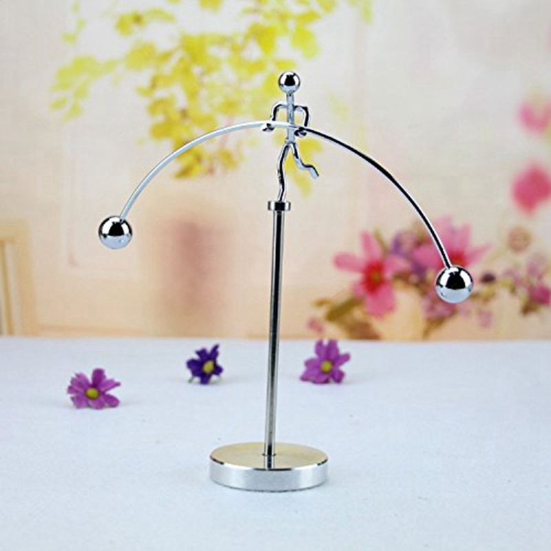 Finger Balancing Toy, Dynamic Balancing Instrument,Newton'S Cradle Weightlifter Mold Metal Craft Perpetual Art Swing Kinetic M enlarge