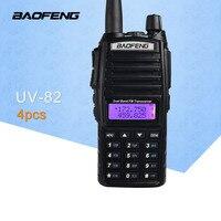 (4 шт.) BaoFeng UV 82 двухдиапазонный 136 174/400 520 МГц FM Ham UV82 двухстороннее радио, трансивер, BaoFeng 82 рация