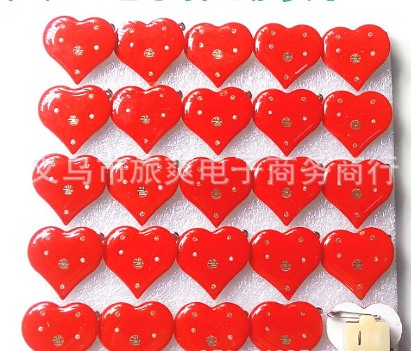 Brooches Jewelry Sets & More Punctual New 25pcs/set Popular Red Love Heart Led Brooch Button Pin Party Favors Puzzle Valentines Day Gift