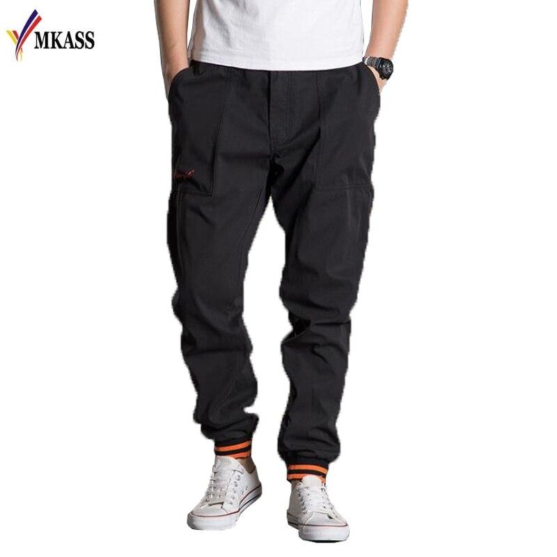 New 2018 Brand Casual Joggers Solid Color Compression Pants Men Cotton Trousers Calabasas Cargo Pants Mens Leggings