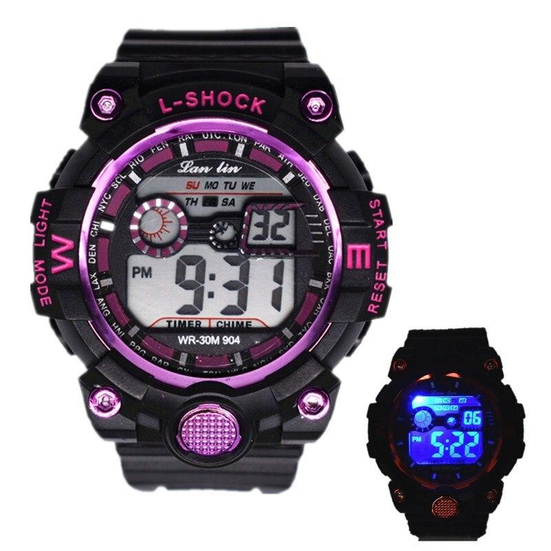 Electronic Watch Smart-Clock Multi-Function Digital Sports Silicone Waterproof Men's