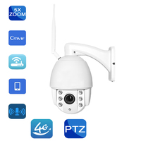 Outdoor HD GSM 3G 4G SIM Card Audio IP Camera PTZ Speed Dome 1080P 960P 5X