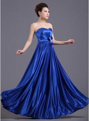 Elegant Satin Fabric Pleated Long Dress Party Strapless Bright Color Bow Crystal Women Evening Dresses In From Weddings Events On