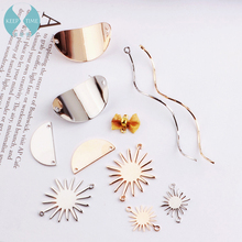 DIY alloy accessories, handmade wafer, wave, butterfly knot, semicircle solar earring, ear clip, ear nail hanging material