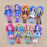 9pieces Set 12cm Collector And Limited Edition My Pet Horse Very Beautiful Figure Pvc Toys