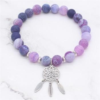 Bracelet attrape rêve en pierres naturelles 5