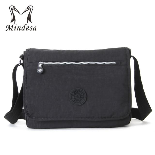 1be32b05f0 MINDESA Women Bags Handbags Flap Pocket Nylon Waterproof Crossbody Bag  Female Beach Solid Shoulder Bag Black Bolsas Feminina Sac