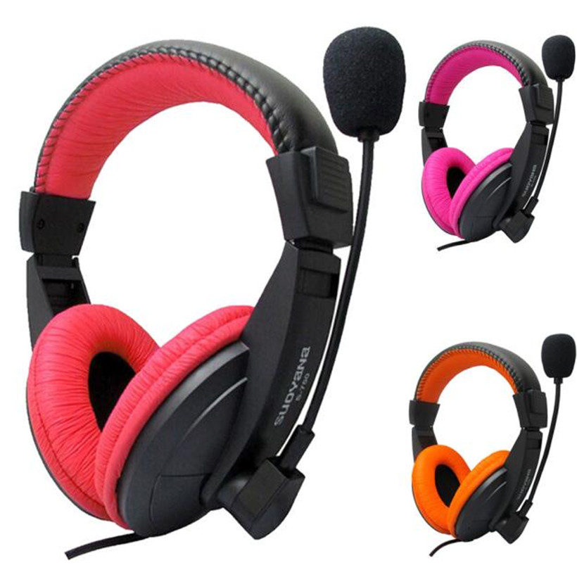 Advanced 2017 New Headset Stereo Earphone Headband for PC for Notebook Gaming Headset Microphone Drop Shipping