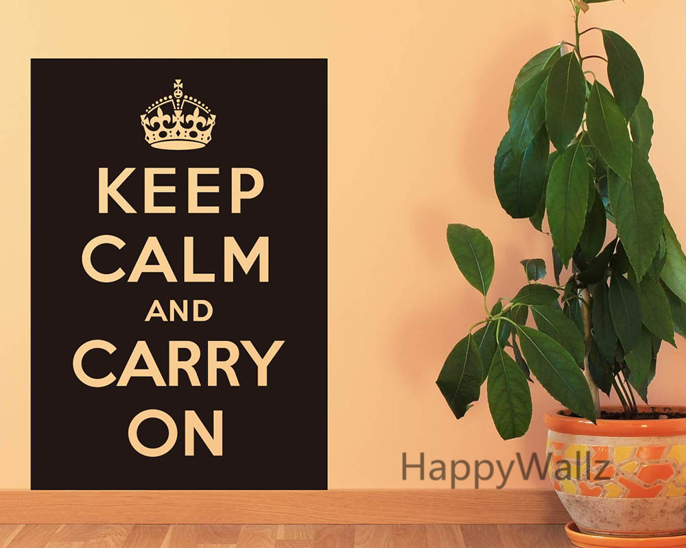 motivational keep calm carry on quote wall sticker diy keep calm quote wall decal vinyl lettering