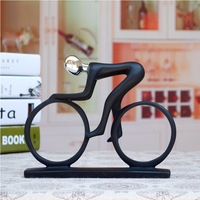 Resin Minimalist Modern Creative Bicycle Exercise Cycling People Abstract Art Ornaments Figures Decorations