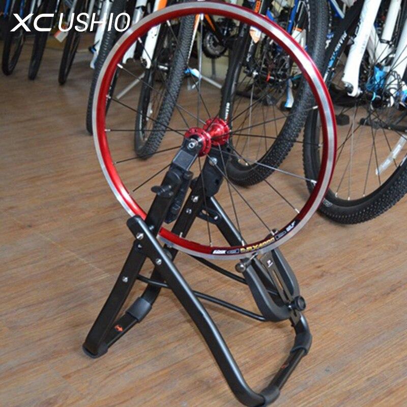 Liga de alumínio Da Bicicleta Roda Truing Estande Folding Frente e Roda Traseira De Conversão Bicicleta Suporte de Manutenção Ferramenta de Reparo Bicyle
