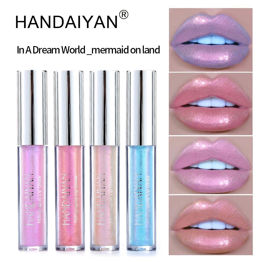 HANDAIYAN 2018 New Polarized Lip Gloss Mermaid Colorful Pearlescent Lasting Moisturizing Lipstick
