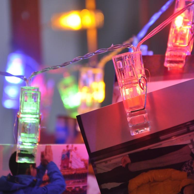 3M 20 LED Clip String Lights Fashion Zdjęcia Bateria LED Dekoracja - Oświetlenie wakacje - Zdjęcie 3