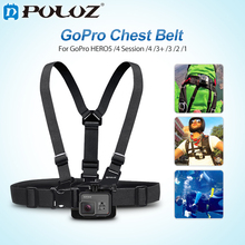 PULUZ For Go Pro Accessories Adjustable Mount Belt Chest Strap for GoPro NEW HERO/HERO6/5/5 4 Session/4/3/Xiaoyi/DJI OSMO Action