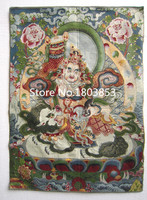Modern Living room wall decoration painting,Hand silk embroidered Tibetan buddhist Tangka art, GuanYin Thangka mandala