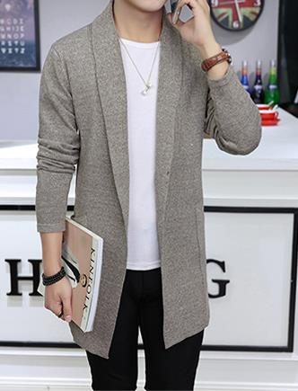 2018 Spring Autumn Mens Knit Cardigan Sweaters Men Knitwear Trends Thin Sweater Slim Casual Brand Designers Clothing