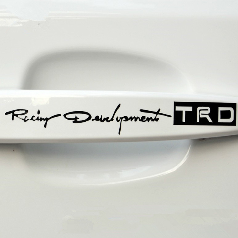 4pcs-set-Car-styling-TRD-Logo-Door-Handle-Reflective-Car-Stickers-Personality-Character-Decoration-Car-styling (2)