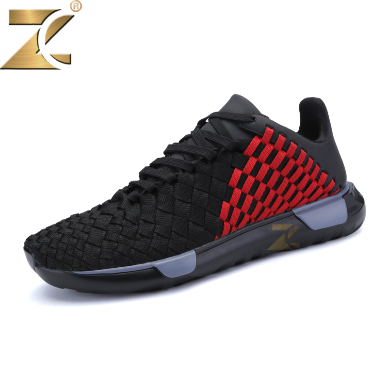 Z Brand 2017 Summer New Fashion Air Mesh Outdoor Breathable Non-leather Flat Men Shoes Men Lace-up Light Casual Walking Shoes men casual shoes lace up mesh men outdoor comfortable shoes patchwork flat with breathable mountain shoes 259