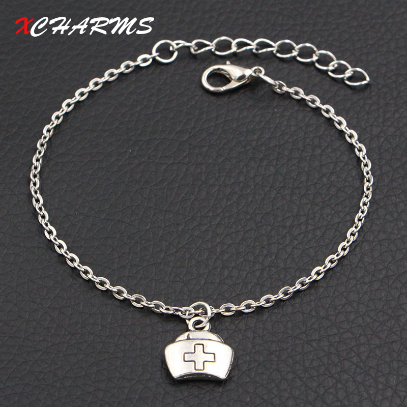New Fashion Jewelry Antique Silver Doctor Medical Box Charms Bracelet DIY Handmade Link Chain Personalized Bracelets For Women