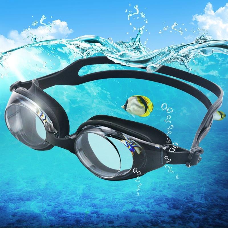 2018New Underwater Swimming Glasses High Quality Glasses Male Adult Swim Frame Swimming Pool Sports Glasses Waterproof Glasses