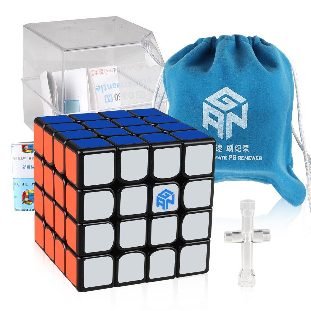D-fantix GAN 460 M 460 M 4x4x4 Cube de vitesse magnétique professionnel 4*4 Gan460 M Cube magique Puzzle Fidget jouets éducatifs cadeau